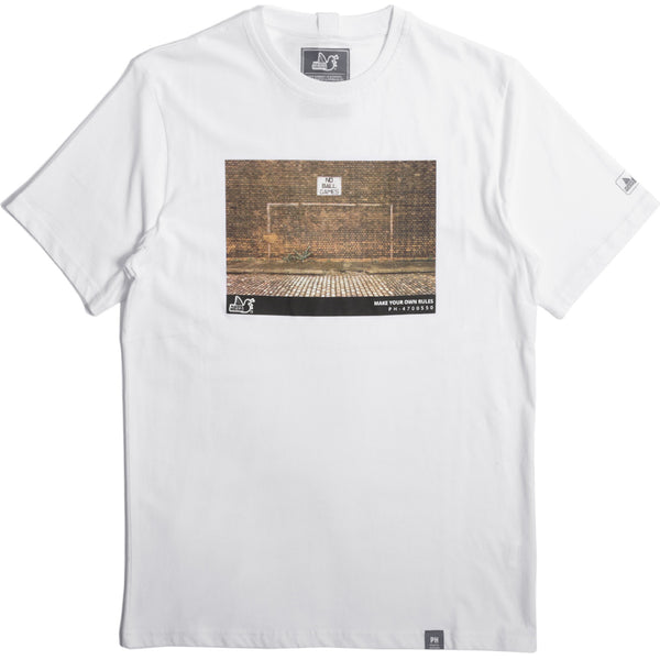 Goal T-Shirt White - Peaceful Hooligan
