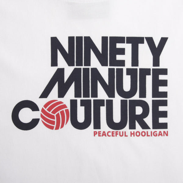 Ninety Minute T-Shirt White - Peaceful Hooligan