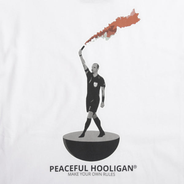 Referee T-Shirt White - Peaceful Hooligan