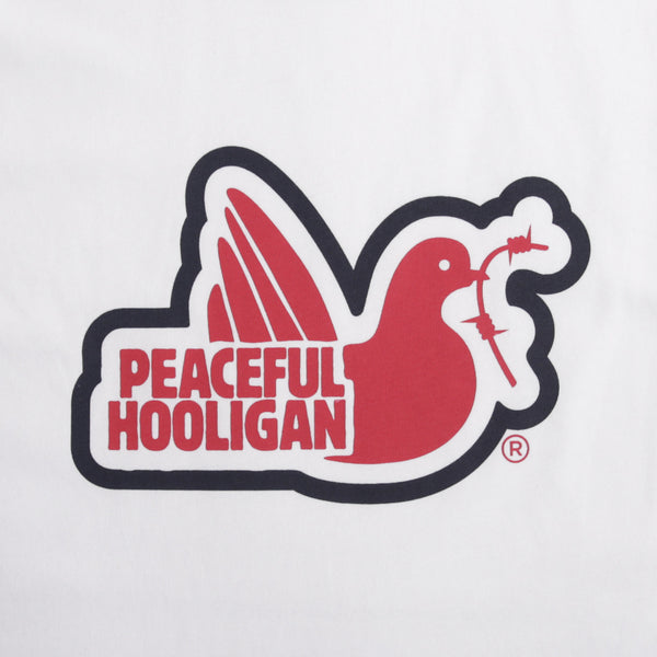 Tridove T-Shirt White - Peaceful Hooligan