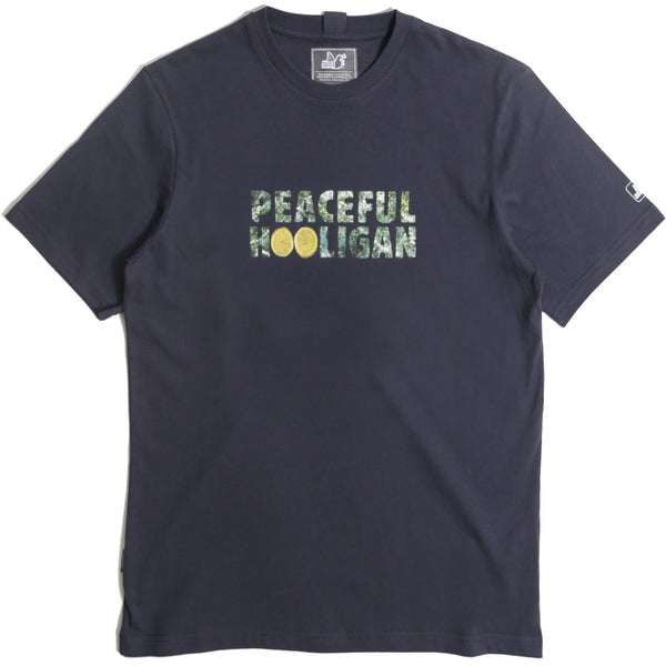 Roses T-Shirt Navy - Peaceful Hooligan