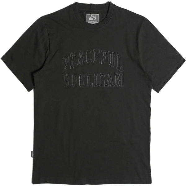 College T-Shirt Black - Peaceful Hooligan