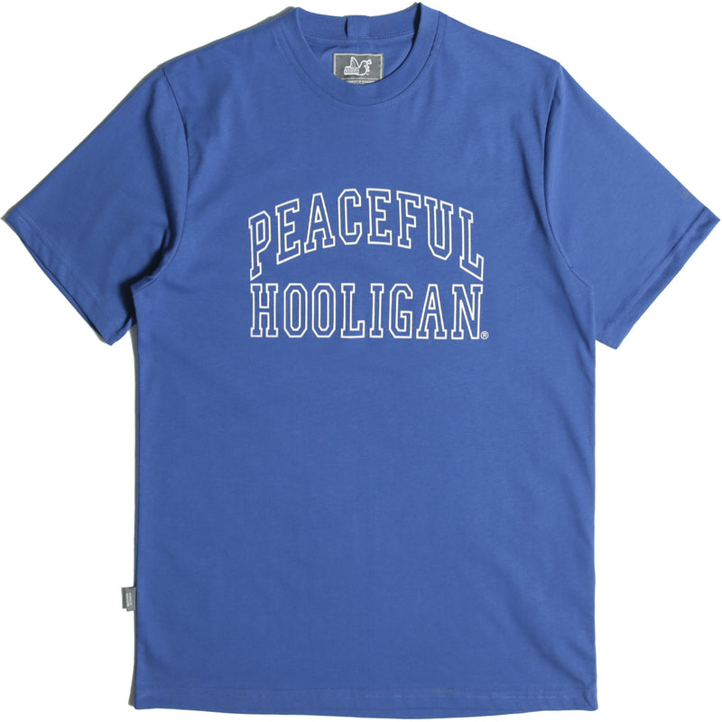 College T-Shirt Bright Blue - Peaceful Hooligan