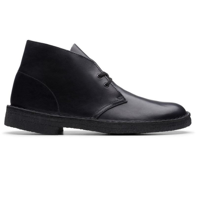 Clarks Originals Desert Boot Black Polished - Peaceful Hooligan