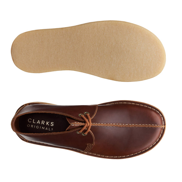 Clarks Originals Desert Trek Shoes Tan Leather - Peaceful Hooligan