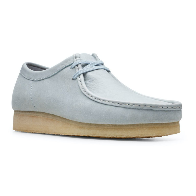 Clarks Originals Wallabee Shoes Light Blue - Peaceful Hooligan
