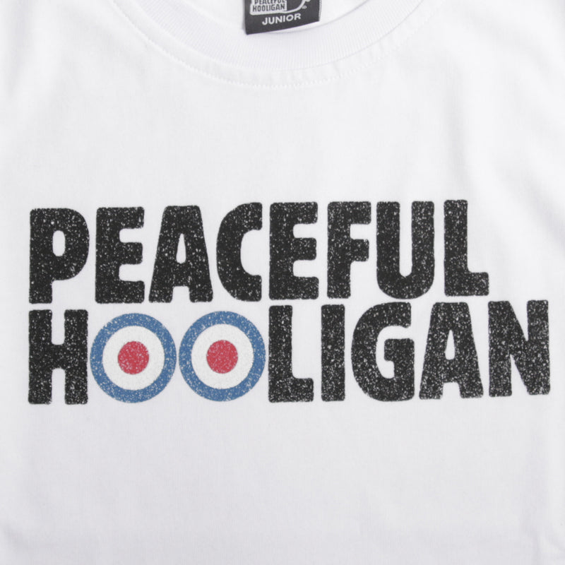 Junior Target T-Shirt White - Peaceful Hooligan