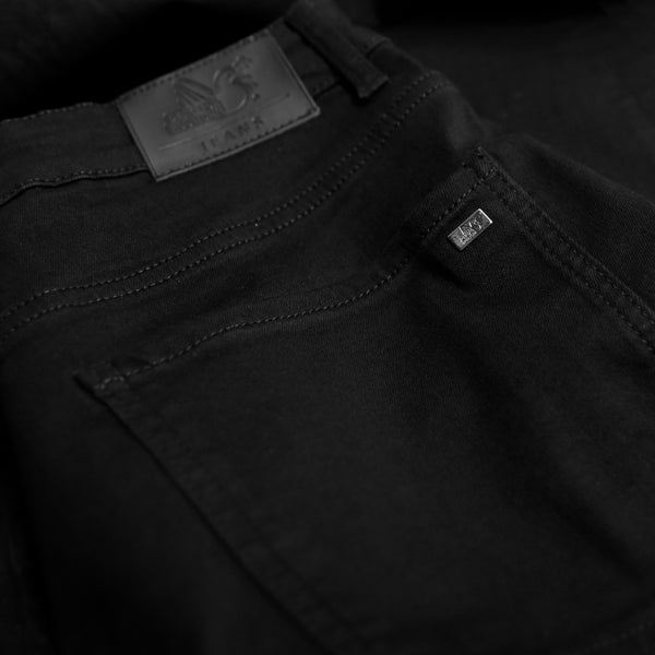 Slim Fit Jeans Black Black Wash - Peaceful Hooligan