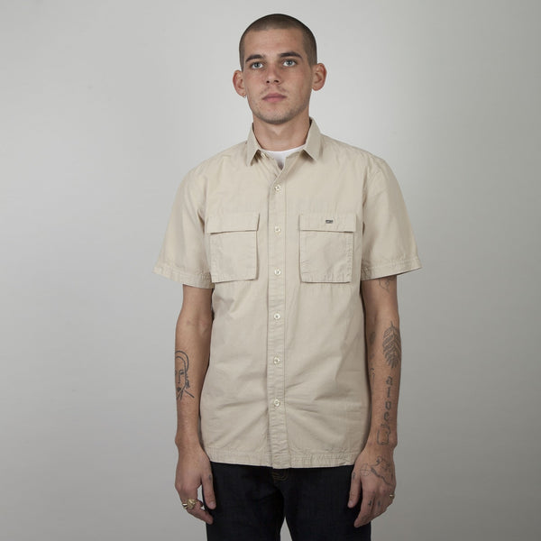 Ryder S/S Shirt Oyster - Peaceful Hooligan
