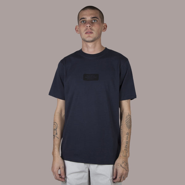Micro Logo T-Shirt Navy - Peaceful Hooligan