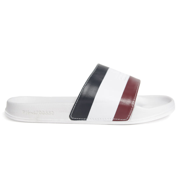 Tri Stripe Slides White - Peaceful Hooligan
