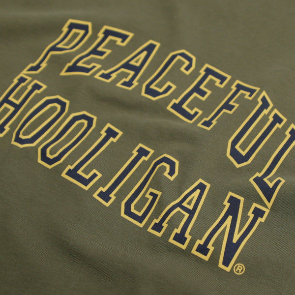 College T-Shirt Olive - Peaceful Hooligan