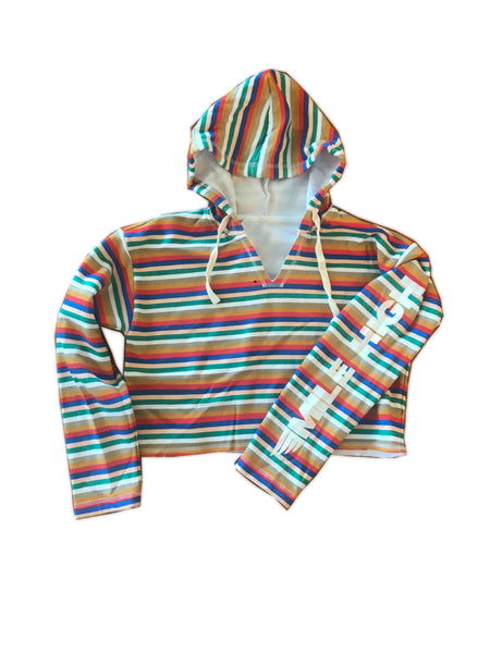 Mile High Multi-Striped Hoodie
