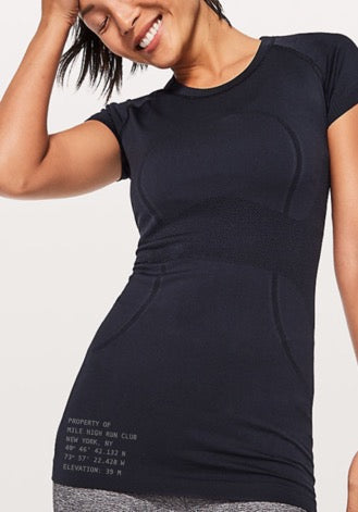 "Lululemon ""Home Base"" Swiftly Tee- Navy"
