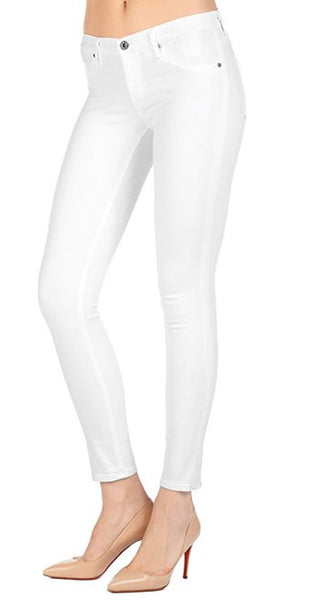 AG The Legging Ankle Jeans in White