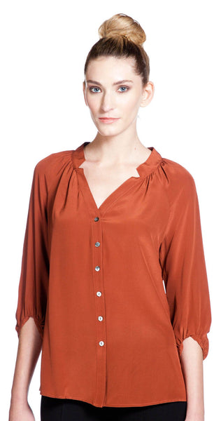 Annie Griffin Collection Sadie Blouse in Spice
