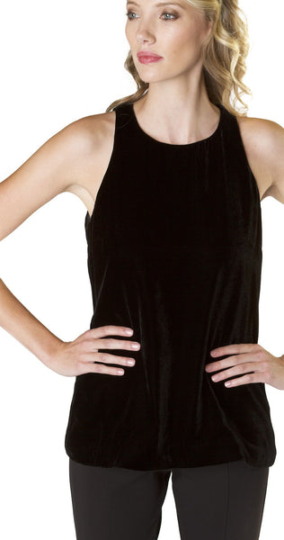 Annie Griffin Collection Robin Tank in Black Velvet
