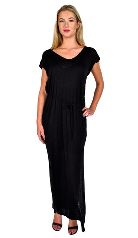 Splendid Black Drawstring Maxi