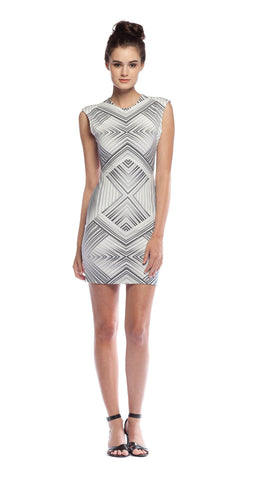 Torn by Ronny Kobo Morgan Dress in Maze Print