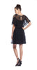 Ella Moss Bekah Silk Dress in Black