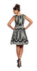 Tracy Reese Dolce Vita Frock in Black and White Scallop Print