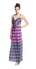 Plenty by Tracy Reese Criss Cross Maxi in Hazy Ikat