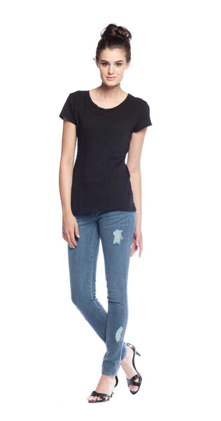 Velvet by Graham & Spencer Odelia Crew Neck Top in Black