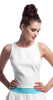Annie Griffin Collection Charlotte Crop Top in White