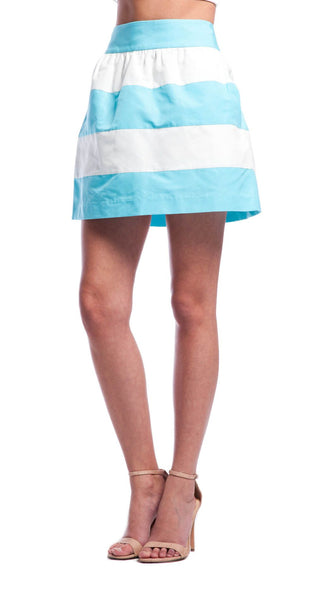 Annie Griffin Collection Olivia Skirt in Sea Breeze/White