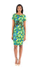 Tracy Reese Short Sleeve Floral Printed Dress