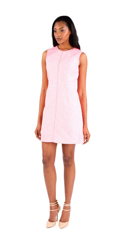 Shoshanna Penelope Combo Dress in Neon Pink
