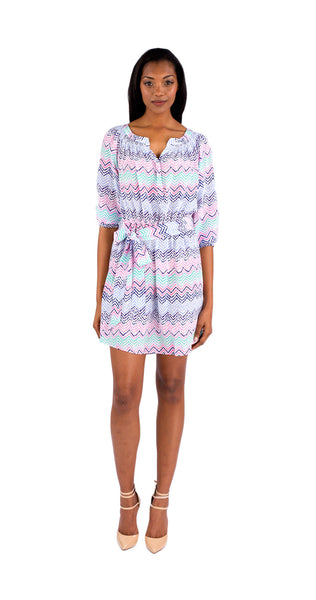 Shoshanna Taryn Dress in Zig Zag Print