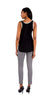 Nicole Miller Evan Enzyme Silk Washed Tank Top