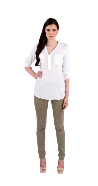 Splendid Shirting Top in White