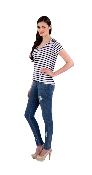 Splendid Navy Stripe Top