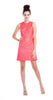 Shoshanna Lace Glenda Dress in Neon Grapefruit