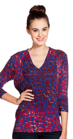 Plenty by Tracy Reese Cocoon Pullover in Sangria