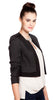 Rebecca Taylor Stretch Snake Jacquard Double Layer Jacket