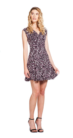 Rebecca Taylor Lynx V-Neck Flare Dress