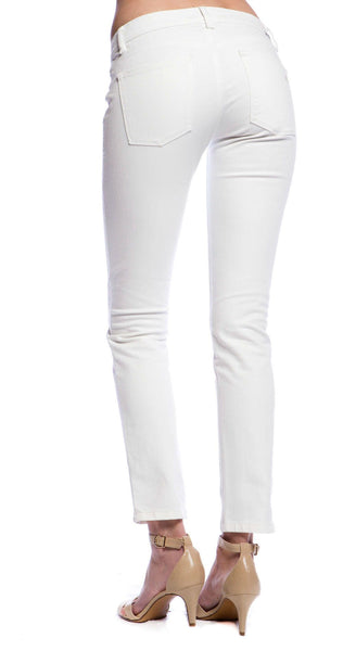 DL1961 Angel Mid Rise Skinny Ankle in Milk