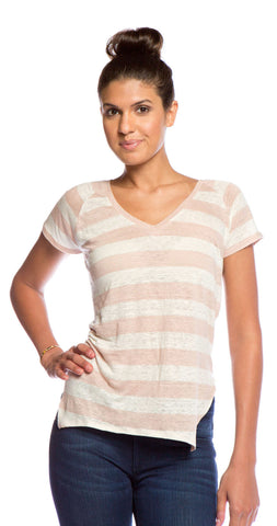 Velvet by Graham & Spencer Fara Stripe Top in Pink
