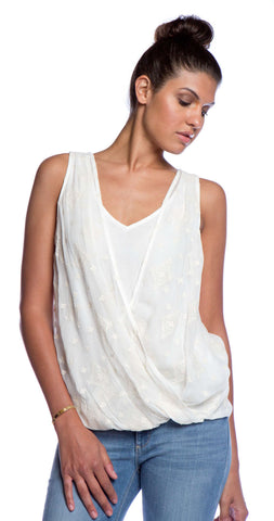 Ella Moss Bekah Silk Tank in Natural