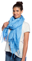 Love Quotes Scarf in Cerulean