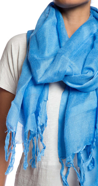 Love Quotes NYC Tassel Scarf in Cerulean