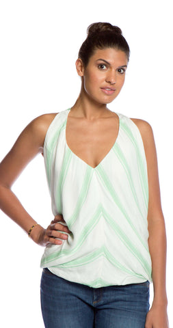 Ella Moss Anabel Stripe Drape Top in Julep