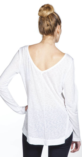 Splendid V Back Tunic in White