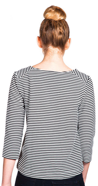 Splendid Belmont Stripe Top in Black