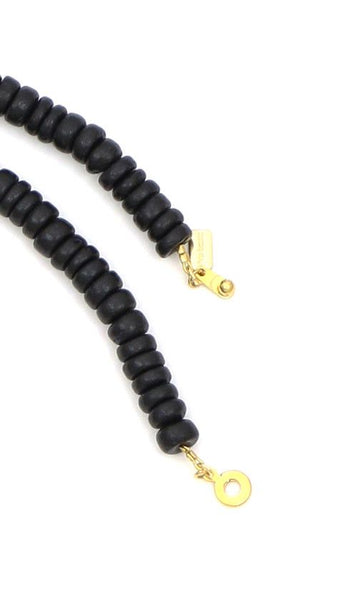 Sylvia Benson Crosby Necklace in Black with Black Tassels