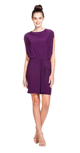 Tbags Los Angeles Dolman Sleeve Shirred Skirt Dress