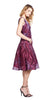 Tracy Reese Flared Frock in Claret Paisley